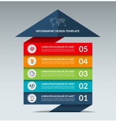 Infographic arrow design template with 5 options vector