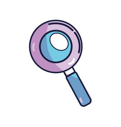 Magnifying optical search tool vector