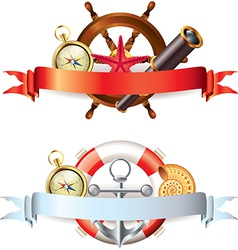 marine tools two compositions vector image