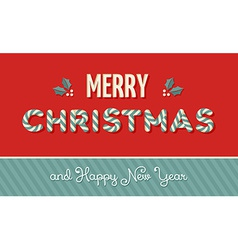 Merry Christmas vintage label background vector image