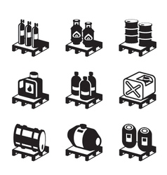 Oil gas and chemical products vector