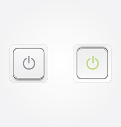 On off power buttons vector