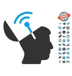 Open Mind Radio Interface Icon With Free Bonus vector image vector image