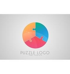 puzzle circle logo puzzle logo Creative logo vector image
