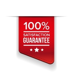 Satisfaction guaranteed black ribbon vector image vector image