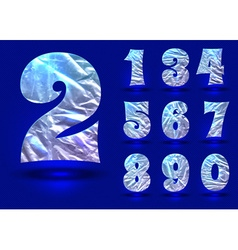 Set of numbers made foil vector image