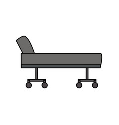 Stretcher hospital isolated vector