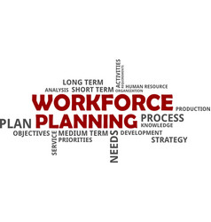 Word cloud - workforce planning vector