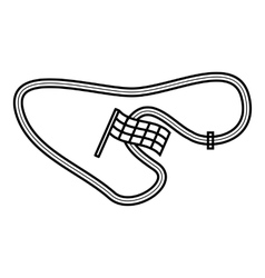 Speedway icon outline style vector