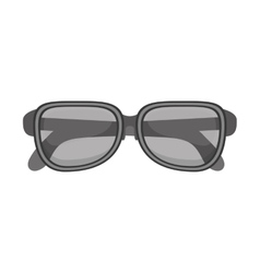 Silhouette glasses with monochrome color vector