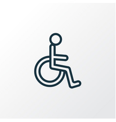 Handicapped outline symbol premium quality vector