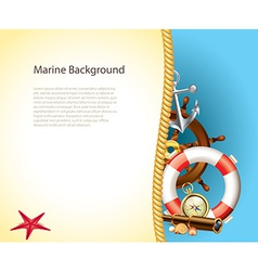 Marine background rope vector