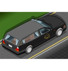 Isometric hearse in rear view vector