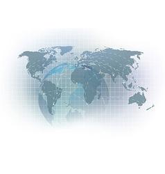 Virtual earth global concept template vector