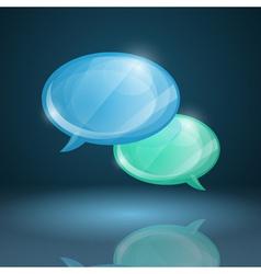 Glossy speech bubbles icon vector image