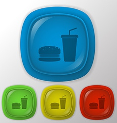Burger and paper cup vector