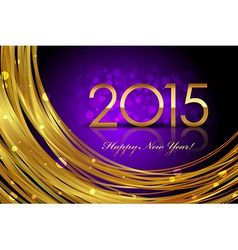 2015 purple glowing background vector image