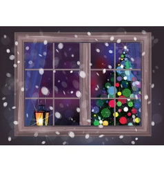 Winter window vector
