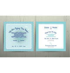 Nautical anchor rope tying the knot wedding card vector
