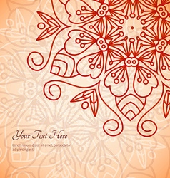 Mehendi decoration vector