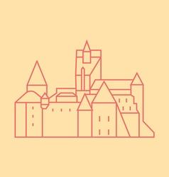 Bran Castle vector image