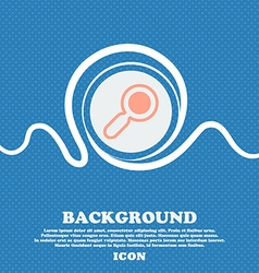 Magnifying glass zoom sign icon blue and white vector