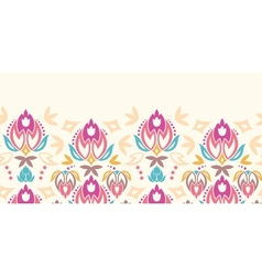 Abstract damask tulips horizontal seamless pattern vector image vector image