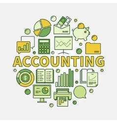 Accounting round colorful vector image vector image