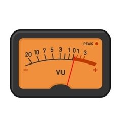 Analog volume unit meter measuring device vector