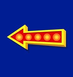 Arrow light sign vector