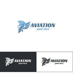 aviation logo design five vector image
