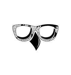 Bird eyeglass vector