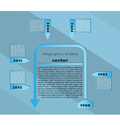 blue timeline infographic template vector image