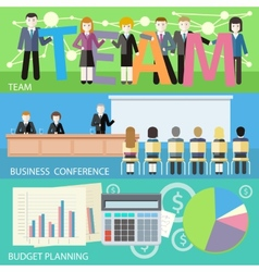 Business plan budget planning search investors vector