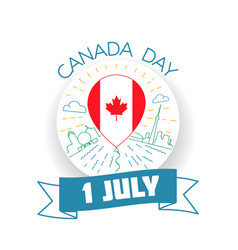 canada day 1 july vector image