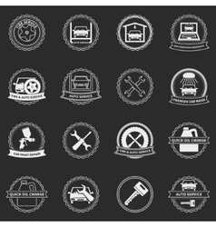 car service emblems and badges vector image vector image