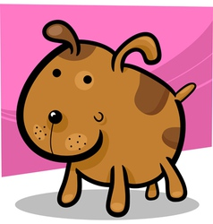 cartoon of cute spotted dog vector image