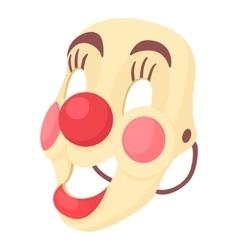 Clown mask icon cartoon style vector