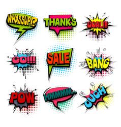 comic set colored comics book phrase balloon vector image vector image