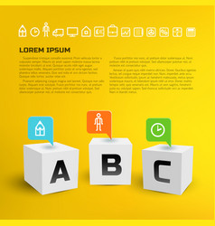 cubes business infographics vector image