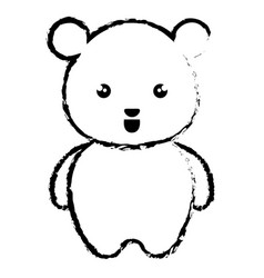 Cute and tender bear kawaii style vector