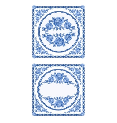 Decoratin-buton-faience vintage vector image vector image
