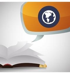 Ebook design reading icon white background vector