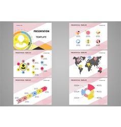Education presentation template vector