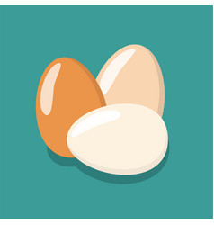 eggs flat icon chicken egg breakfast vector image vector image