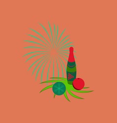 Flat on background of champagne vector