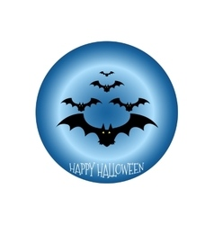 Happy Halloween icon scary on blue background vector image vector image