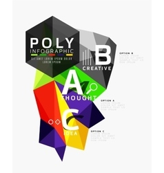 Low poly geometric infographics vector