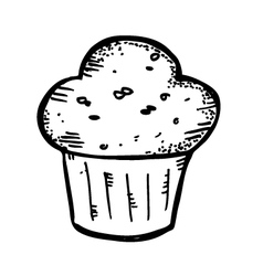 muffin doodle vector image vector image