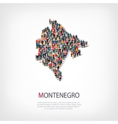 people map country Montenegro vector image vector image